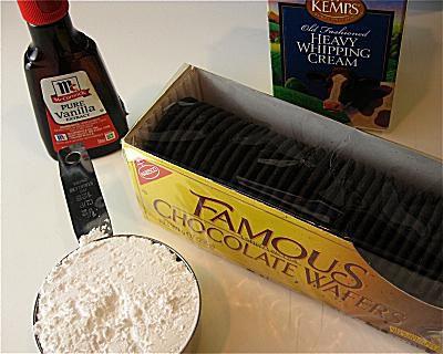 Chocolate Icebox Dessert Step 1