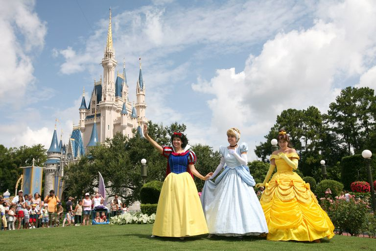 Image of Disney princesses at Walt Disney World.