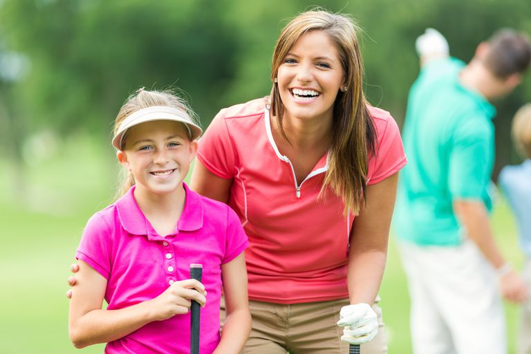 Mother and daughter golfers