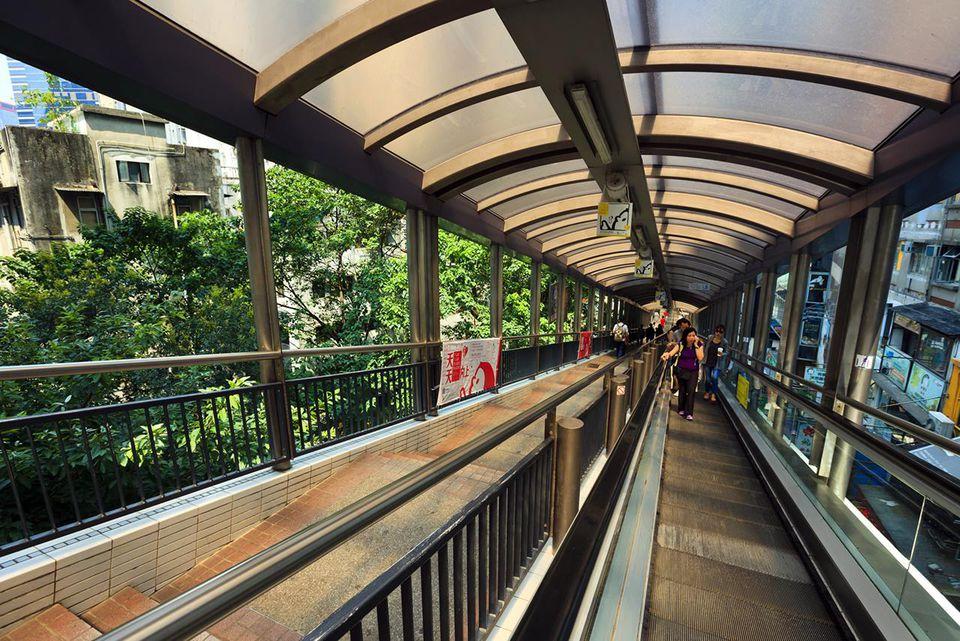 The Central-Mid-levels escalators, Hong Kong