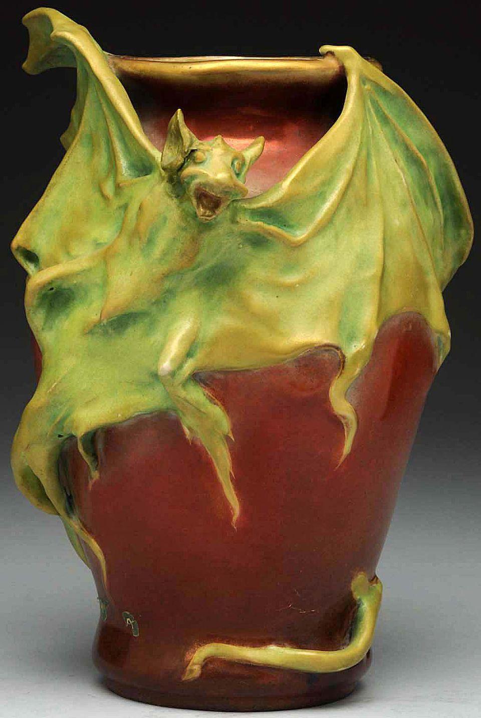 Rare Amphora Bat Vase