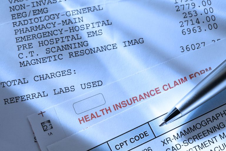 medical bills and insurance claim form
