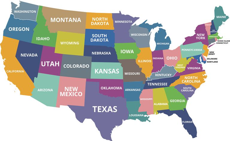 What Are The Smallest States In The US - Iowa usa map