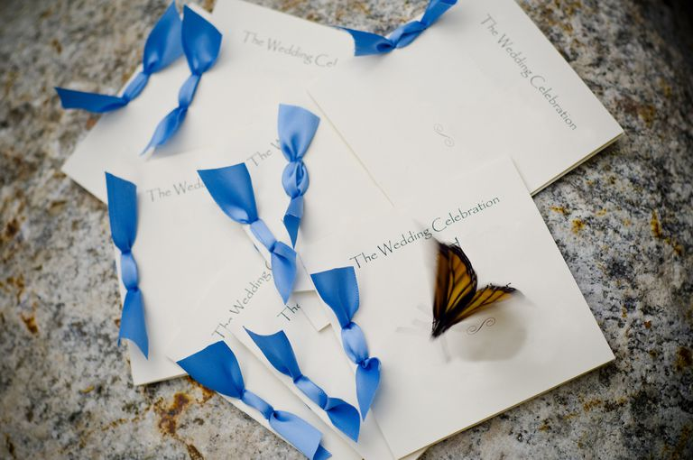 Butterfly Release Wedding Program Invitation