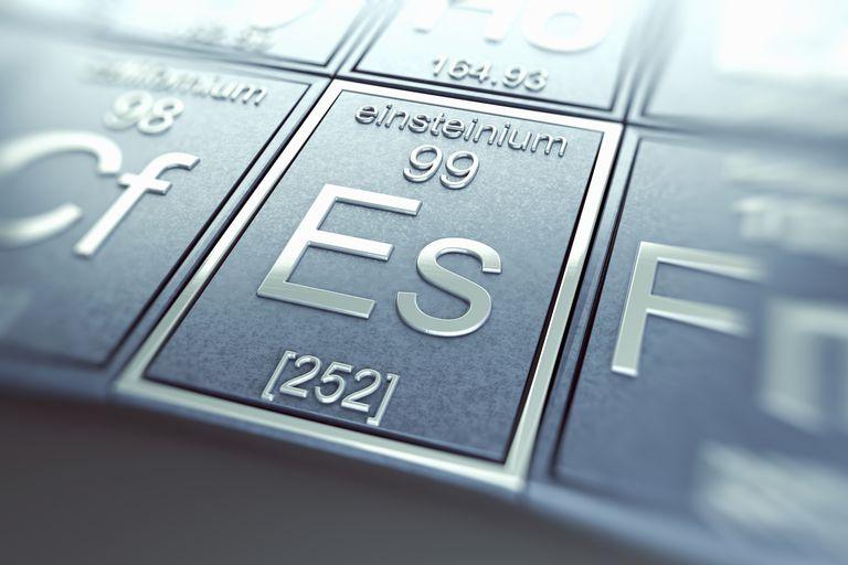 Einsteinium is a radioactive metal that glows in the dark.