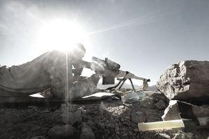 US Marines Patrol Remote Part Of Helmand Province Near Kajaki Dam
