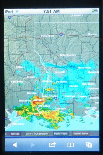 iPhone Radar Image