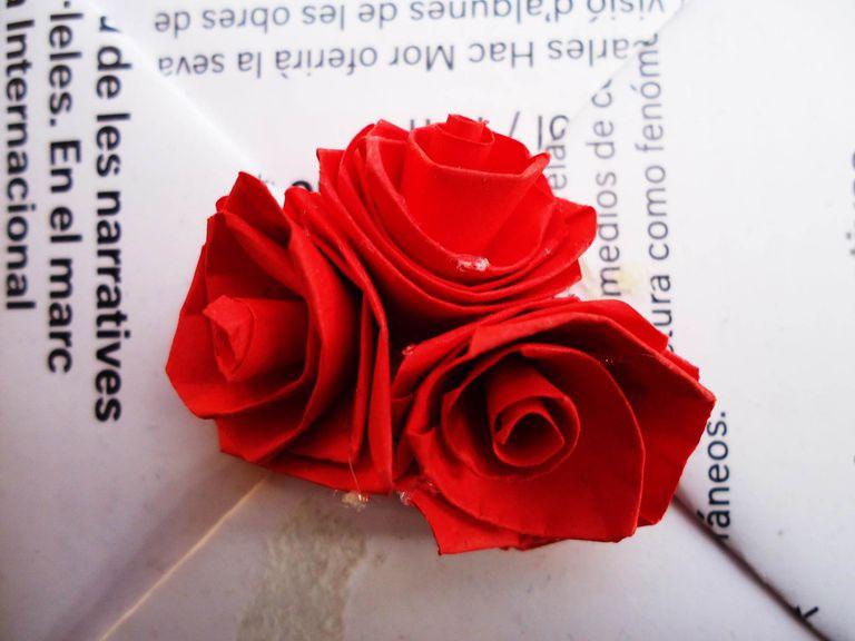 Rosas de papel Filigrana quilling