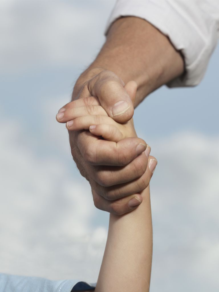 holding hands adult child