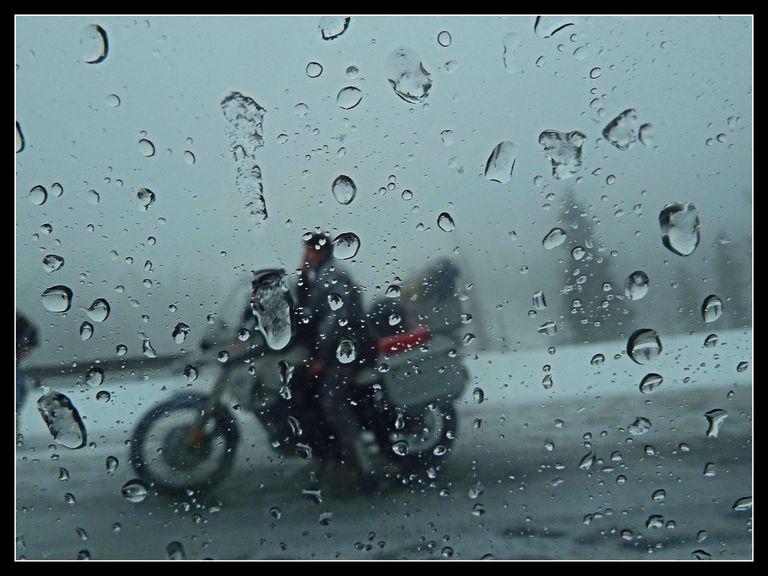 Rainy Weather Motorcycle Riding