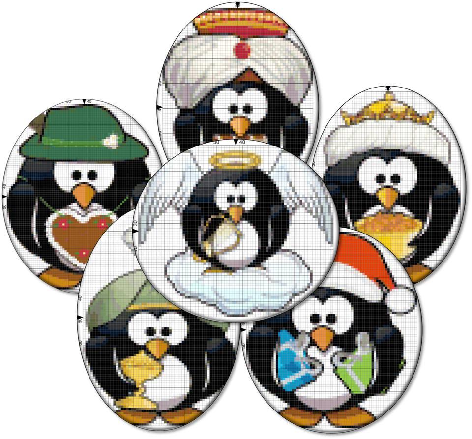 Penguin Christmas Needlepoint Designs