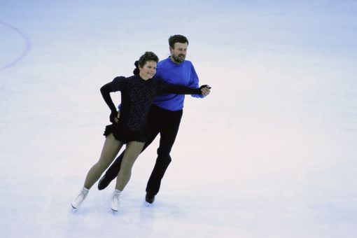 Figure Skaters Do Ice Dancing