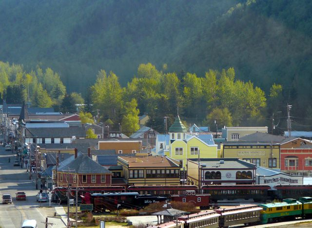 View of Skagway from Ship's Sun Deck