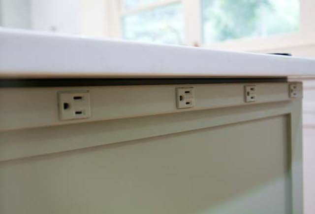 Kitchen Island Electrical Outlet get outlets out of site on the kitchen island