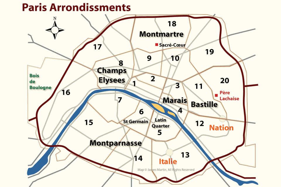 10 Arrondissement Gefährlich arrondissements map and guide