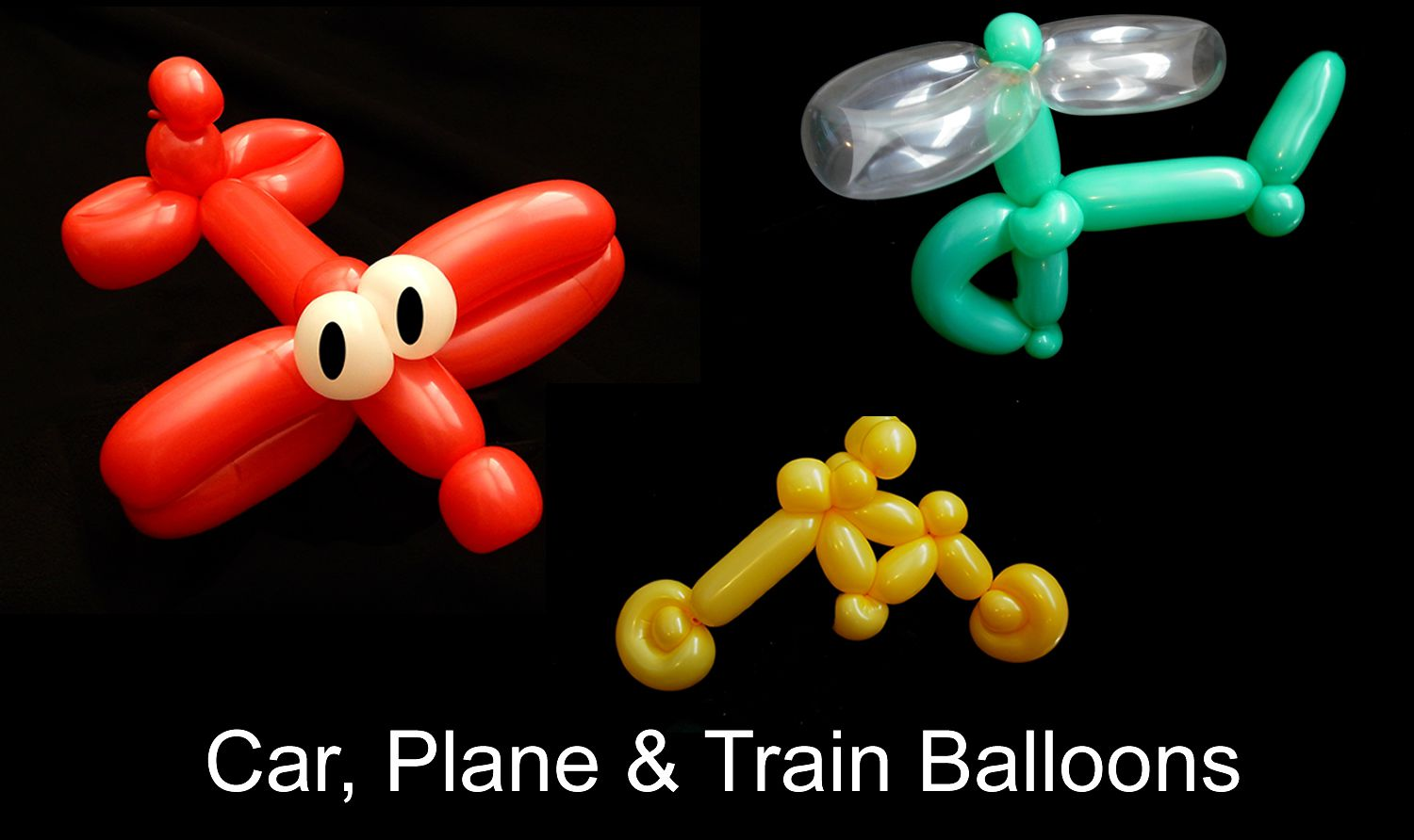 Transportation balloons that you can learn to make for What can you make with balloons