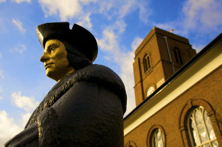 Statue of Sir Thomas More, London, England, UK