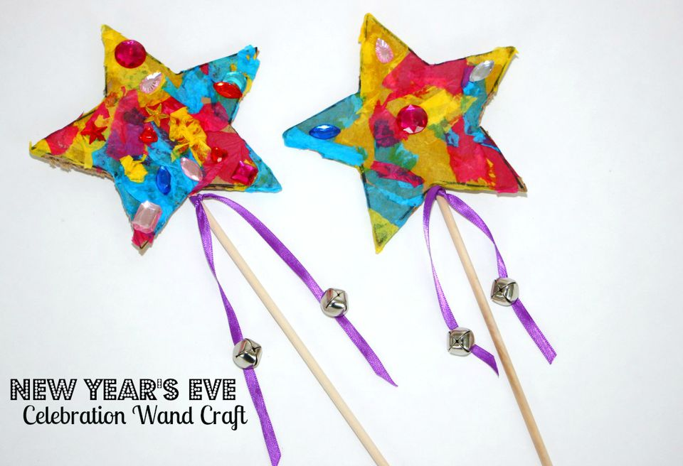DIY: New Year's Eve Noise Maker Wands