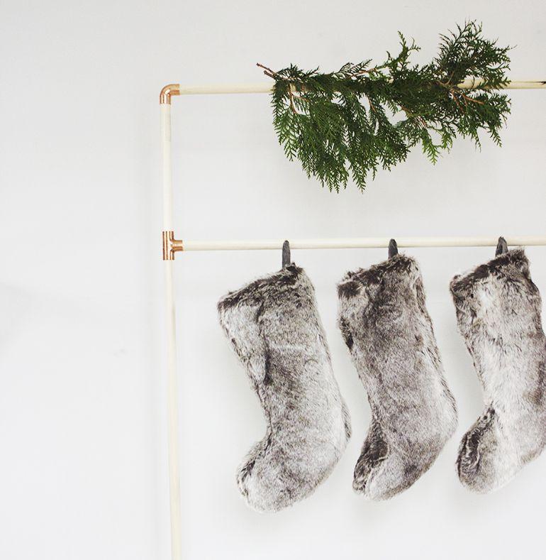 DIY Copper Stockings Rack