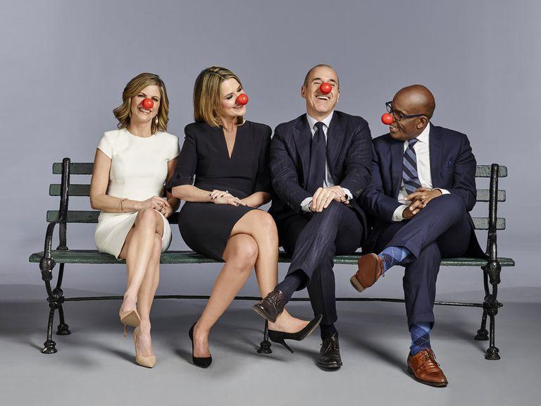 Natalie Morales, Savannah Guthrie, Matt Lauer, Al Roker for Red Nose Day