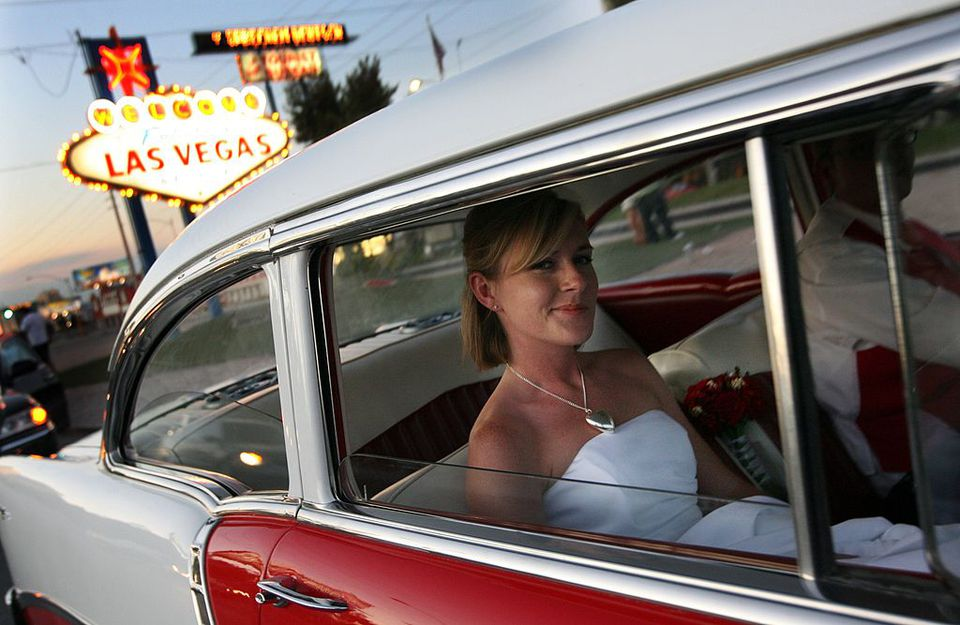 vegas bride car