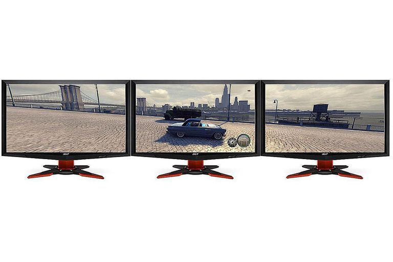 NVIDIA 3D Surround Vision Using 3 LCDs