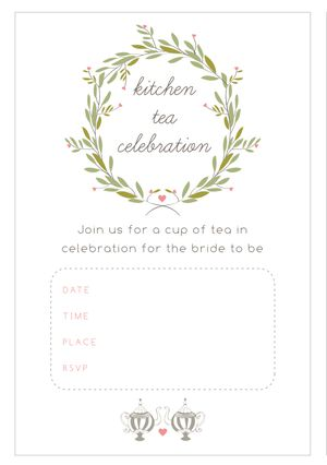 Free Printable Bridal Shower Invitations