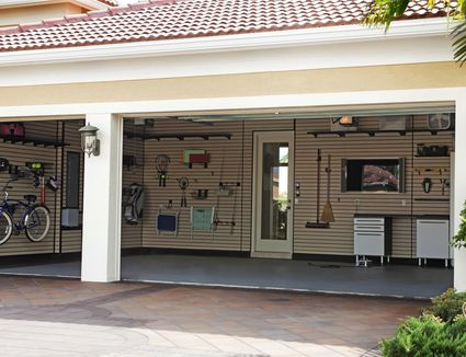 Ensure a long lasting concrete garage floor achieve your well organized garage with these garage storage ideas solutioingenieria Images