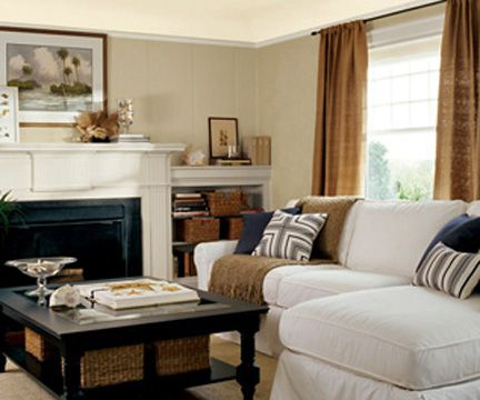 Traditional Living Room With Neutral Color Scheme