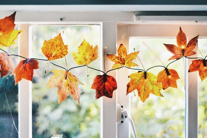 fall leaf string lights