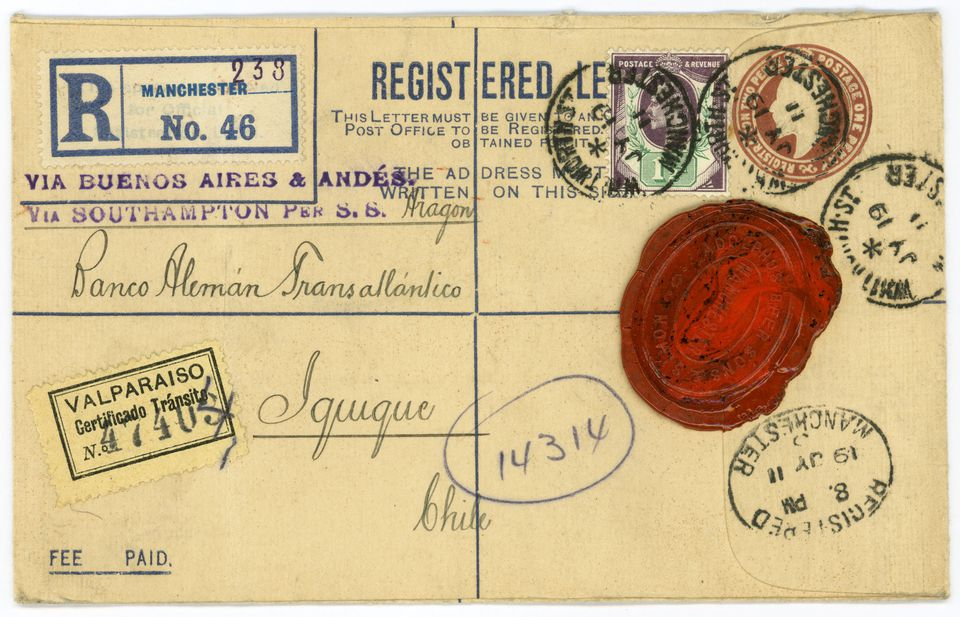 Antique Envelope from 1911 Great Britain.