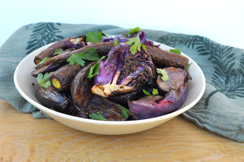 grilled purple salad
