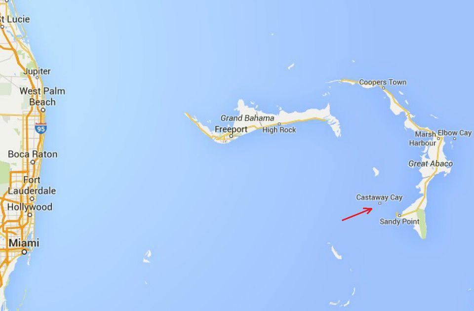 Castaway Cay Map, Bahamas