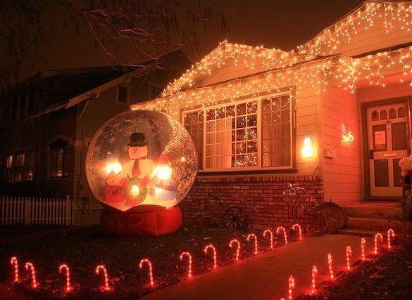 snow globe inflatable marla showfer christmas house
