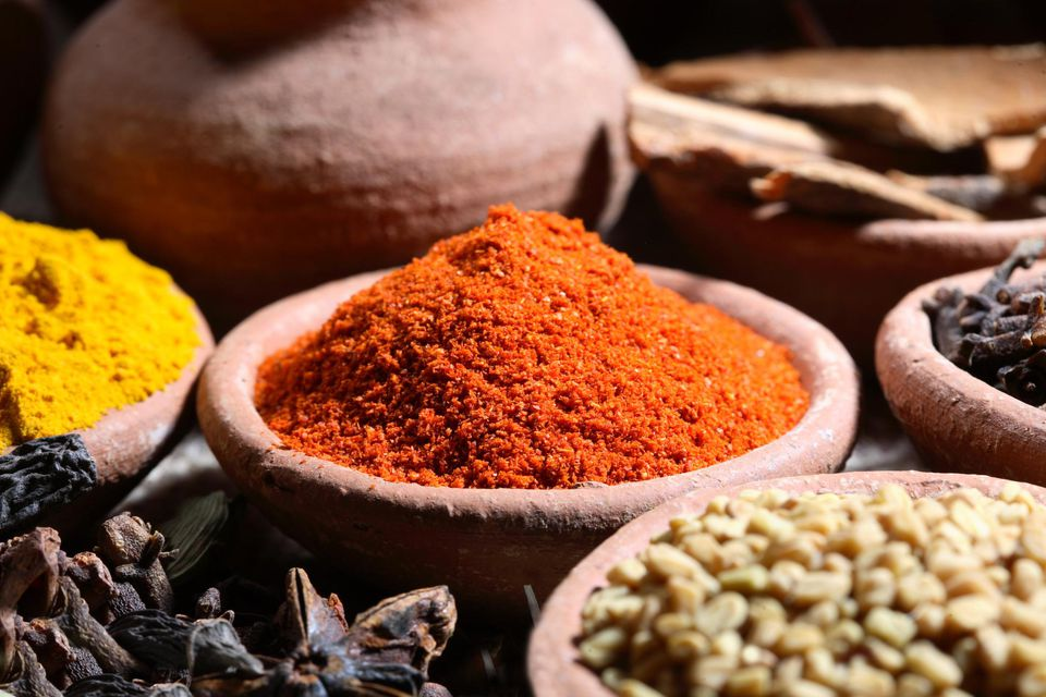 Close up of spices