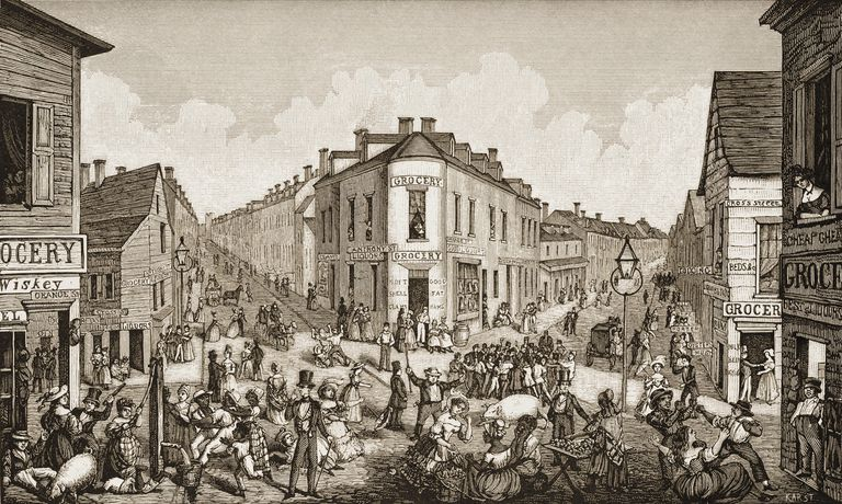 The Five Points depicted circa 1829