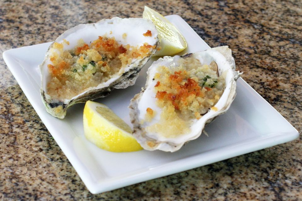 Herb and Butter Baked Oysters