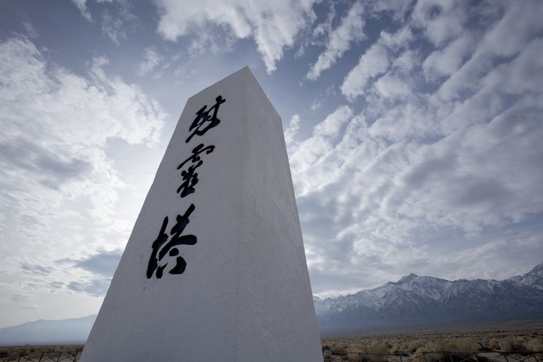 Memorial at the Manzanar National Historic Site