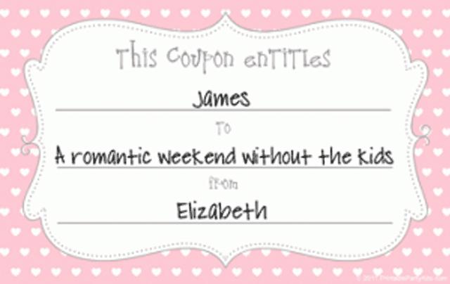 Love coupon design template