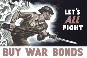 Digitally restored war propaganda poster.