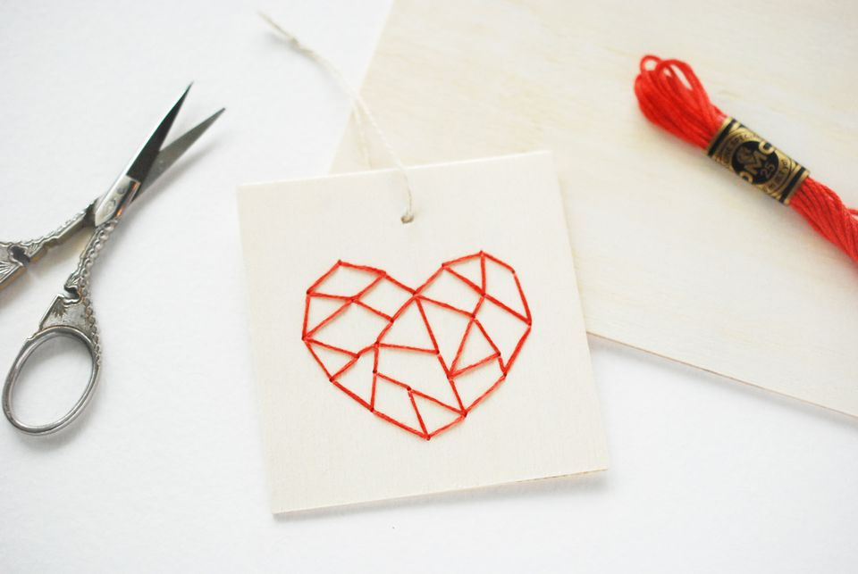 Embroidering on Wood