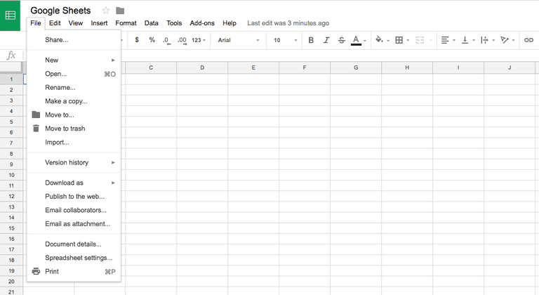 Google sheets binary options