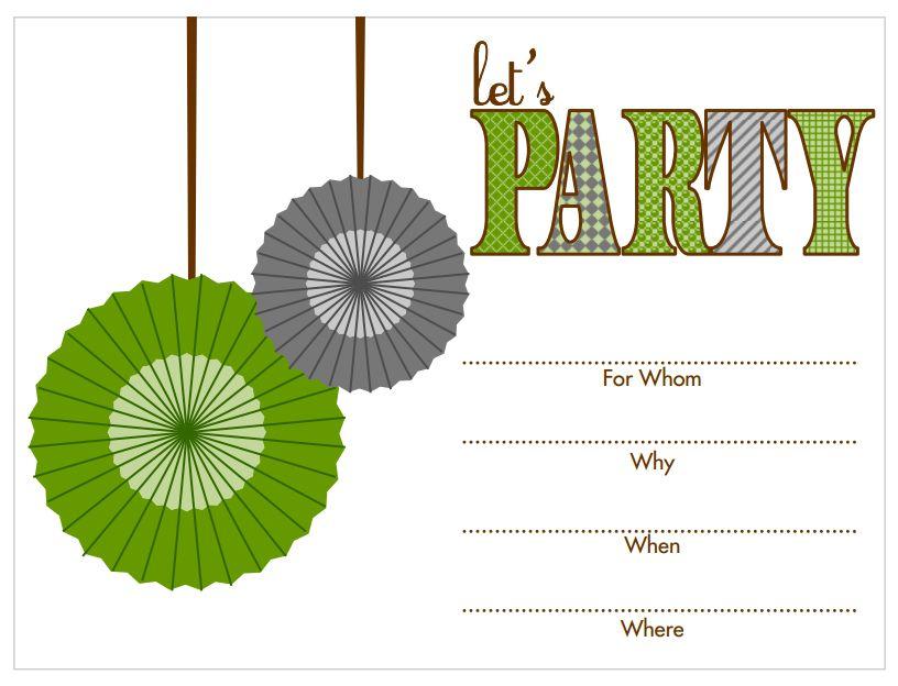 birthday invites printable