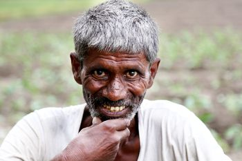 Namaste and saying hello in india indian man portrait m4hsunfo