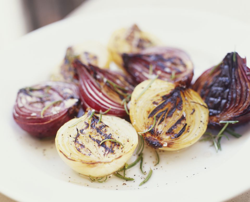 Browned Onion Halves