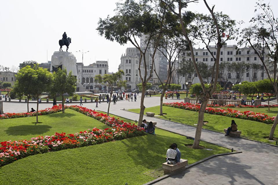 Plaza San Martin, Lima, Peru.