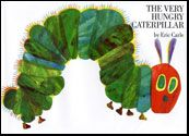 Cover art of the children's picture book The Very Hungry Caterpillar by Eric Carle