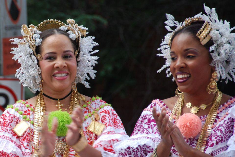 Women celebrating at Fiesta DC