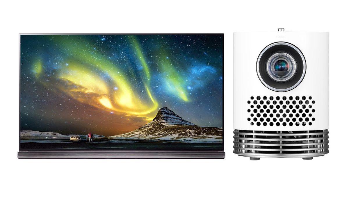 LG G7 Series OLED TV and LG HF80JA Projector