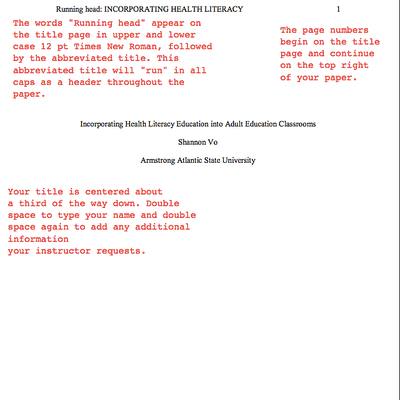 title page formats - Examples Of Titles For Essays